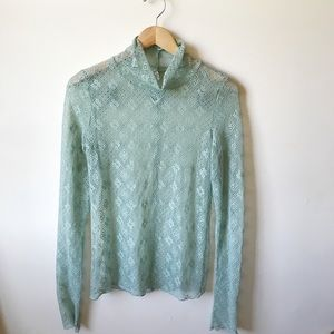 Intimately Free People mint lace turtleneck